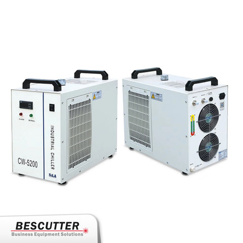 Industrial Refrigerated Water Chiller  CW-5200 for CO2 laser 130W/150W - BesCutter Laser Cutters and Engravers