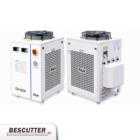 Industrial Refrigerated Water Chiller  CW-6000 for CO2 laser 250W/300W - BesCutter Laser Cutters and Engravers
