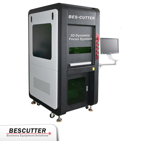 IPG 100 W Galvo Fiber Laser Engraving Machine with 3D Dynamic Focus - BesCutter