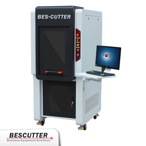 Q Series Galvo Fiber Laser Marker 20W-100W - Desktop Enclosed Type - BesCutter Laser Cutters and Engravers