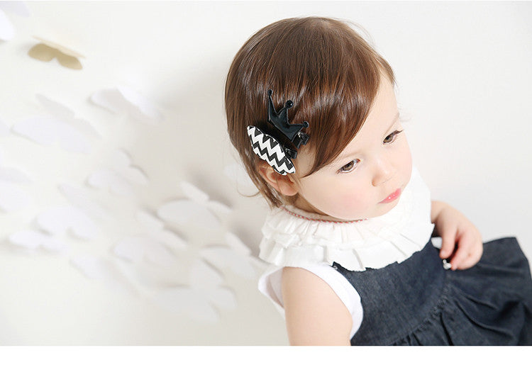 100% Handmade Kids Crown and Cloud Hairclips Set A323G81C