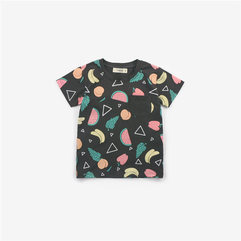 1-7Y Kids Fruits Shirt A2024F