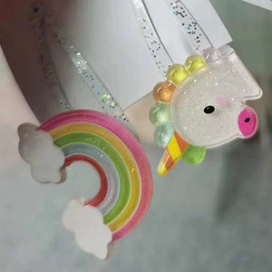 Kids Rainbow and Unicorn Hairclip Set A323G121A