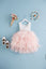 1-6Y White Lace and Pink Layers Tulle Long Gown G2101M