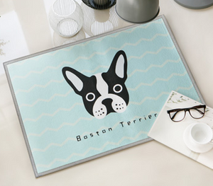Boston Terrier Door Mat H804C
