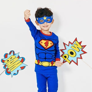 2-12Y Kids Korea Brand UniFRIEND Organic Superman Pyjamas 2pcs Set A40424C