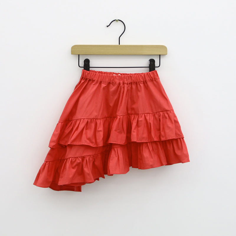 2-7Y Girls Red Layers Skirt A2046H
