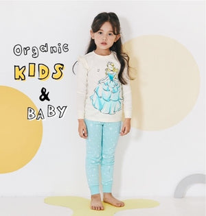 2-12Y Kids Korea Brand UniFRIEND Organic Princess Pyjamas 2pcs Set A40424D