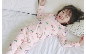 Unicorn Rainbow Pyjamas Sleepwear 2pcs Set A40422E