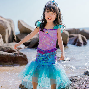3-10Y Girls Little Mermaid Dress G2091B