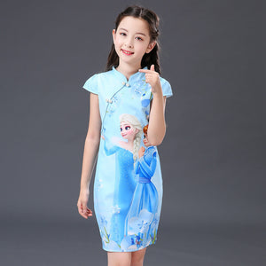 3-10Y Girls Cartoon Cheongsam Dress A200C68H