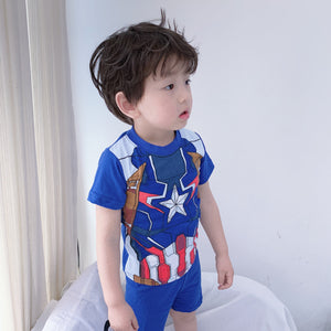 Boys Captain America Top and Bottom 2pcs Set A1061C