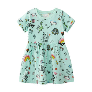 2-7Y Girls Jumping Meters Dress A20141L