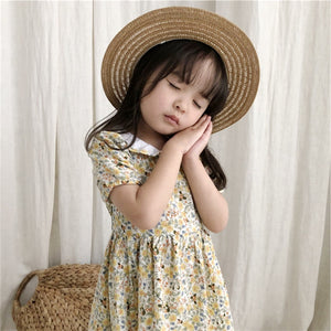 2-7Y Girls Collar Floral Dress A20132C