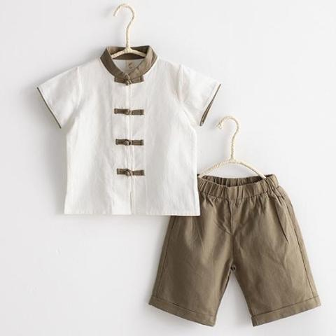 2-6Y Boys Kungfu Top and Bottom 2pcs Set A100C41L