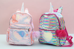 Kids Unicorn Sequins Backpack D2072B