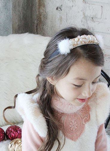 100% Handmade Kids Pearls Hairband A323G6I