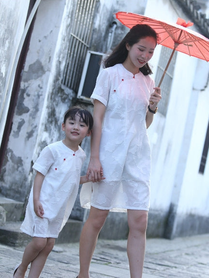 1-8Y Girls Cheongsam Dress A200C18M (Mother sizes available)