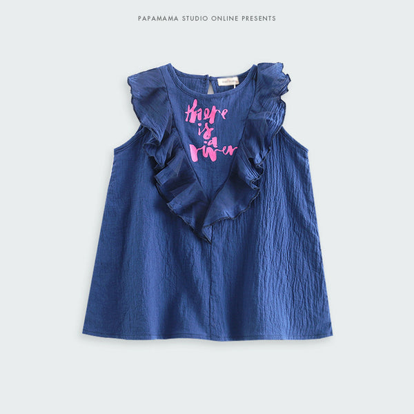 2-6Y Girls Blue Dress G240L