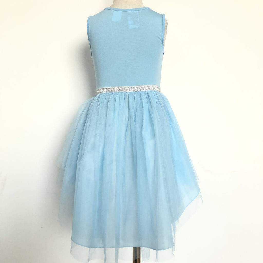 Girls Frozen Asymmetrical Tulle Dress A20137A