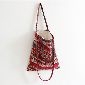 Cotton Canvas Shoulder Hand Bag Tote Bag with Zipper D2012E