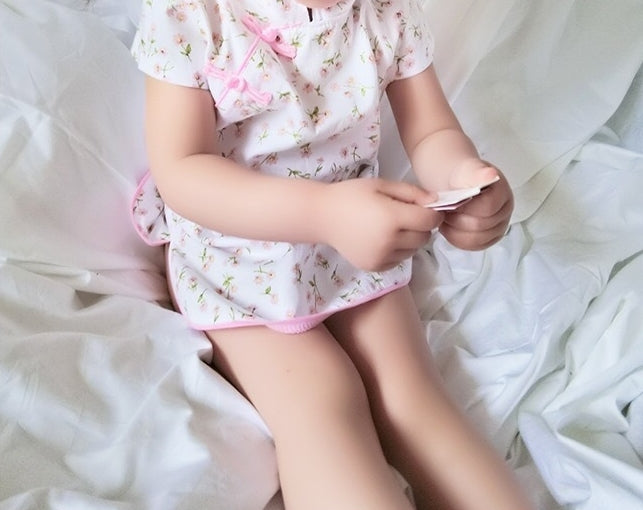 1-6Y Girls White Floral Cheongsam Dress A200C51B
