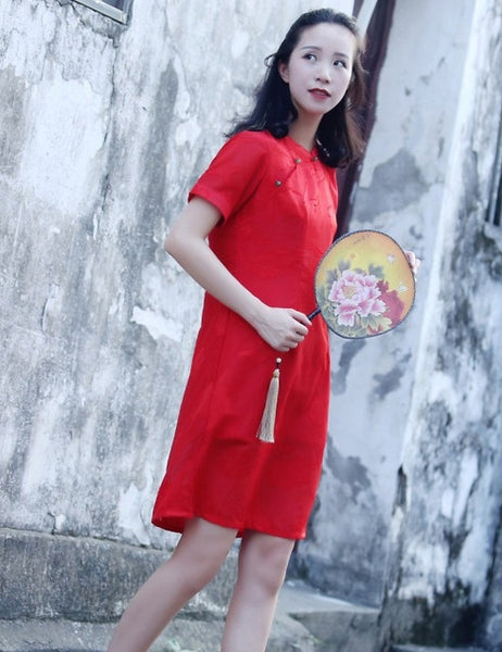 1-8Y Girls Cheongsam Dress A200C18N (Mother sizes available)