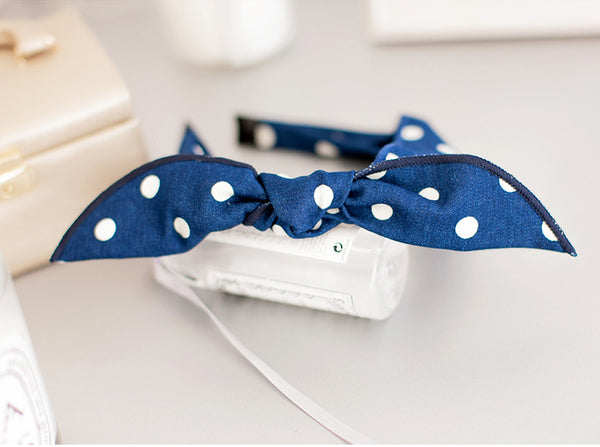 100% Handmade Kids Blue Jeans Hairband A323G102A
