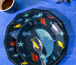 Under the Sea Party Plates Package of 8pcs/pack A70313G