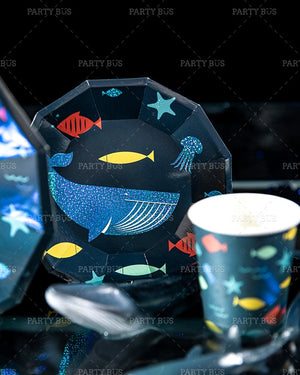 Under the Sea Party Plates Package of 8pcs/pack A70313H