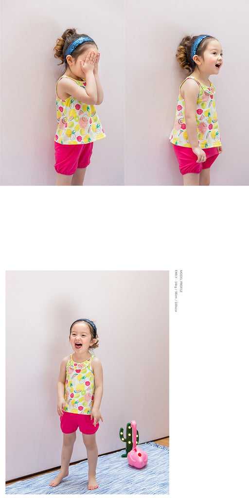 1-7Y Bebezoo Girls Top and Bottom 2pcs Set K20121C