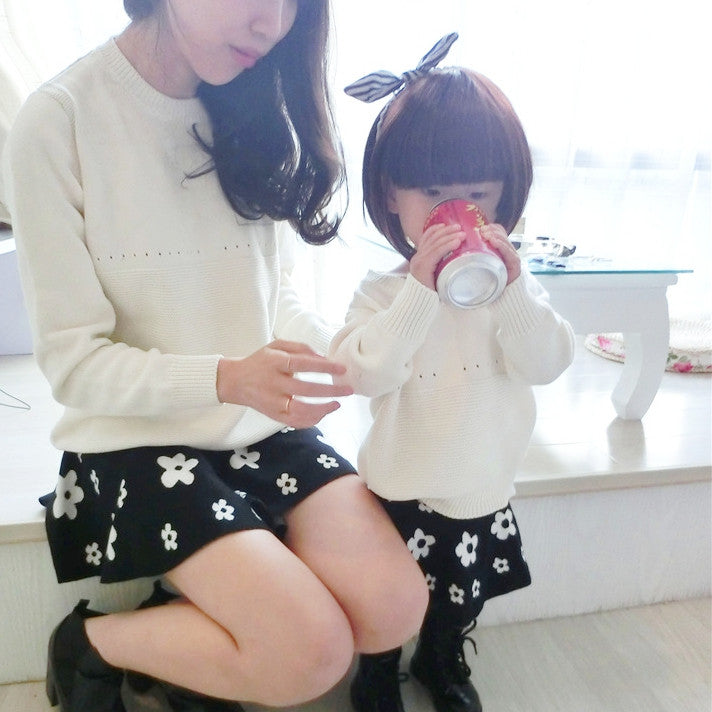 1-5Y Mommy and Me Knit Sweater PPD501A