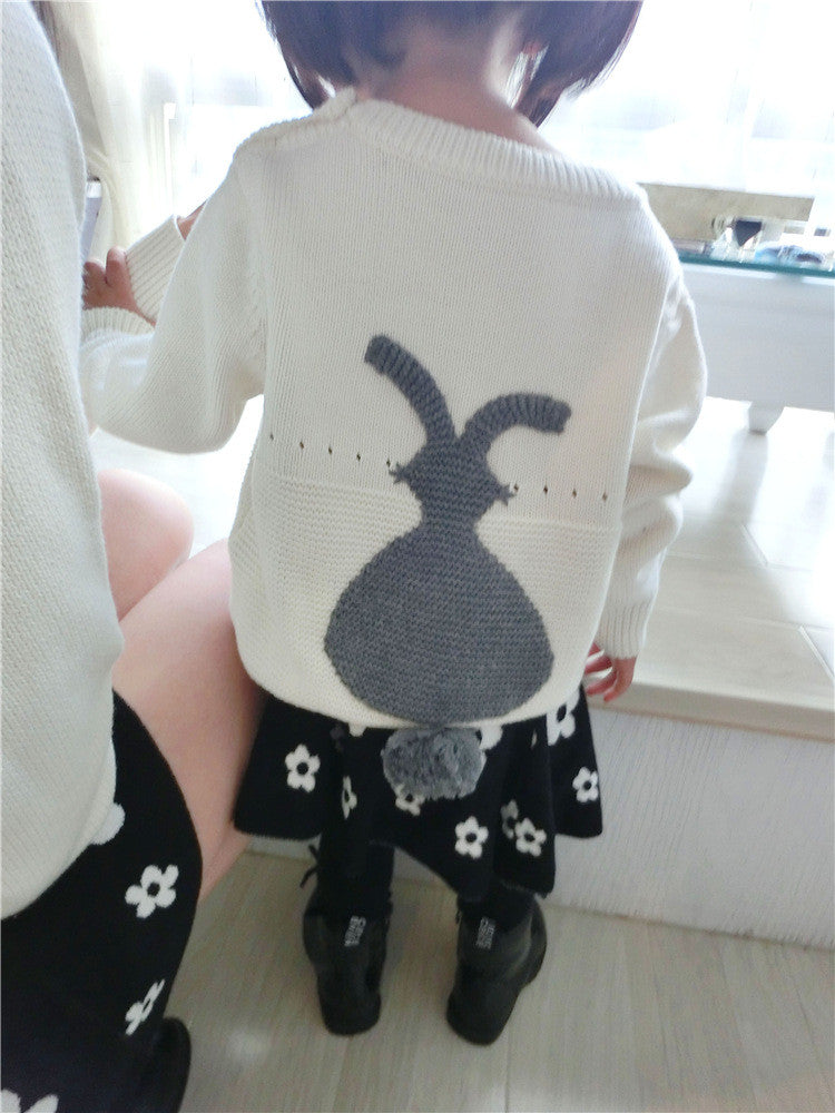 1-5Y Kids Bunny Knit Sweater PPD501A