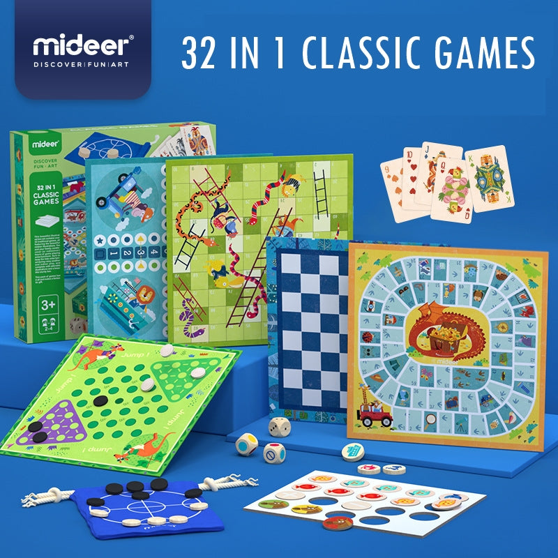 Mideer 32 IN 1 Classic Games MD2012E
