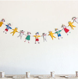 Party Flag Bunting Garland Set Toot Sweet Garland A7042C
