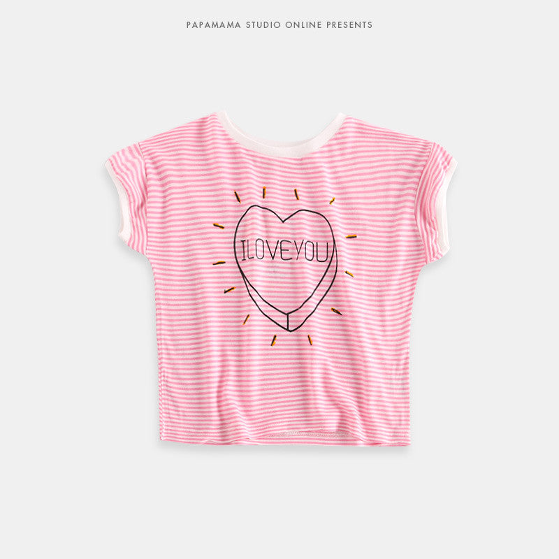 2-6Y Girls Pink Stripes Top A2021D