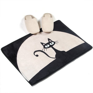Black Cat Door Mat H823B