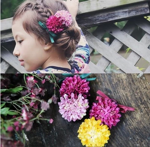 100% Handmade Kids Flowers Hairclip A323G84A