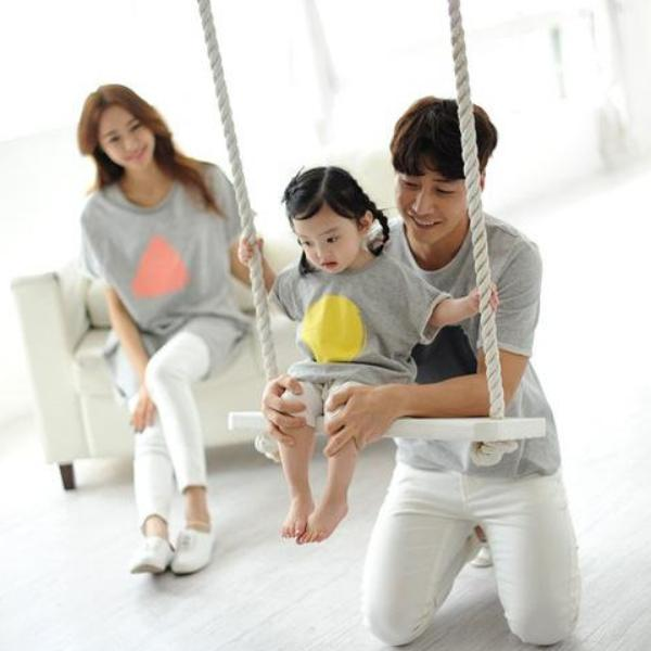 Family Wears Loose Fit Grey F101