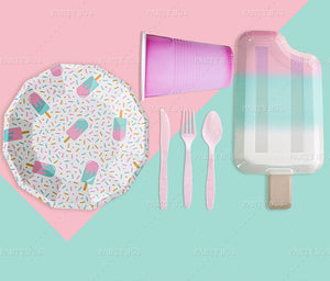 Ice-Cream Party Plates Package of 8pcs/pack A70313J