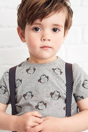 2-7Y Boys Short Sleeve T-shirt A1042A