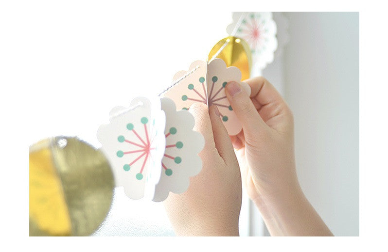 BENTOY Party Flag Bunting Garland Set Flower Garland A7042K