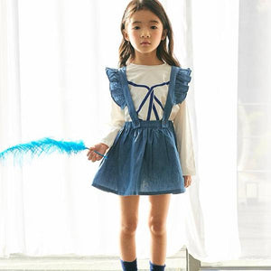 2-6Y Girls Blue Ruffles Dress G2021G