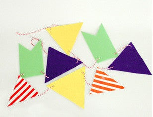 Party Flag Bunting Garland Set Colourful Flags Set A7042M