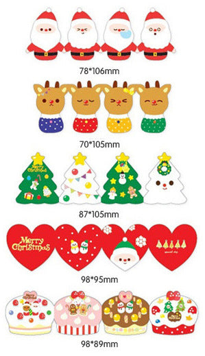 Korea design Christmas Cards Set of 5 - X781B