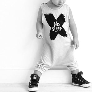 Boys Sleeveless Harem Bodysuit Romper A405K