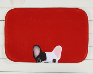 Puppy Red Door Mat H810E