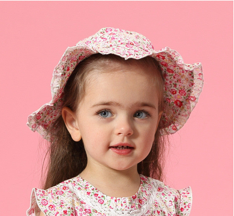 Girls Floral Sun Protection Hat PPD324C / PPD324D