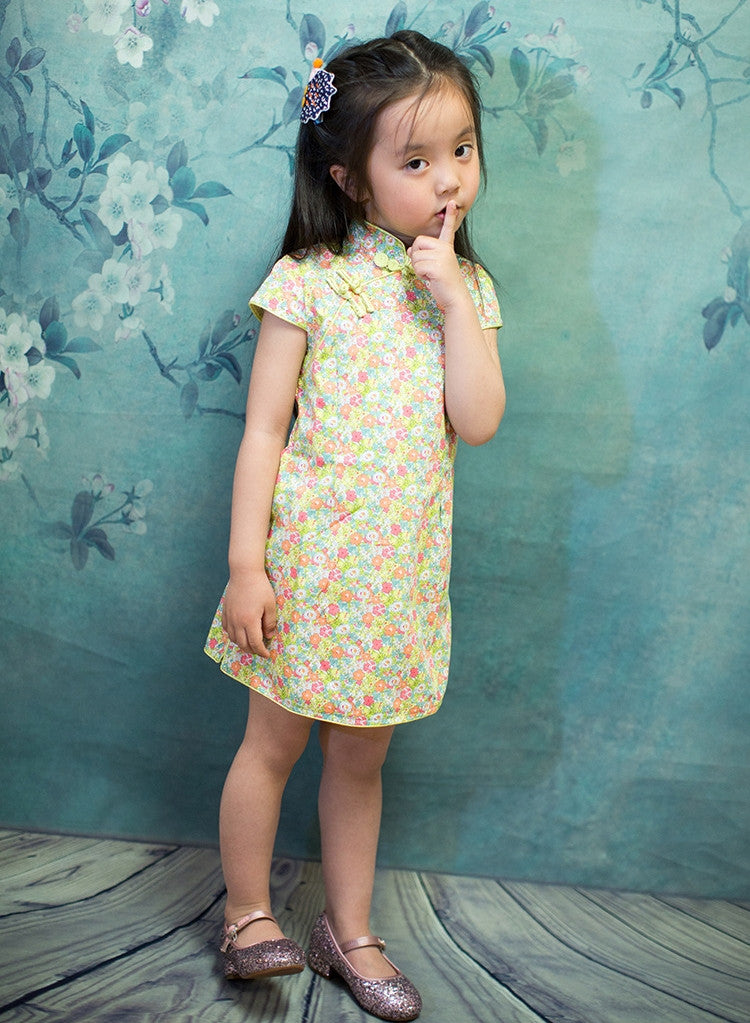 2-10Y Girls Cheongsam Dress A200C62B