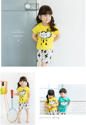 1-8Y Kid Homewear 2pcs Set by Korea uniFriend A4043A